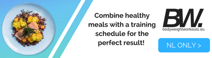 combine healthy meals with your BW training plan